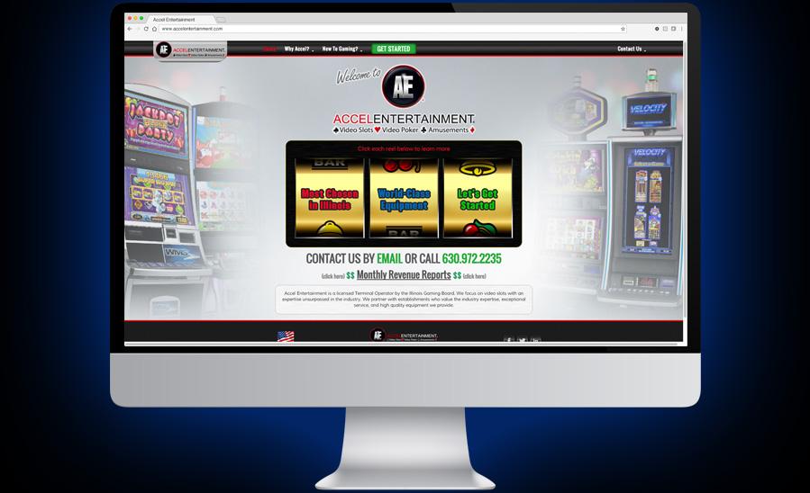 Accel Entertainment Website Design and Development