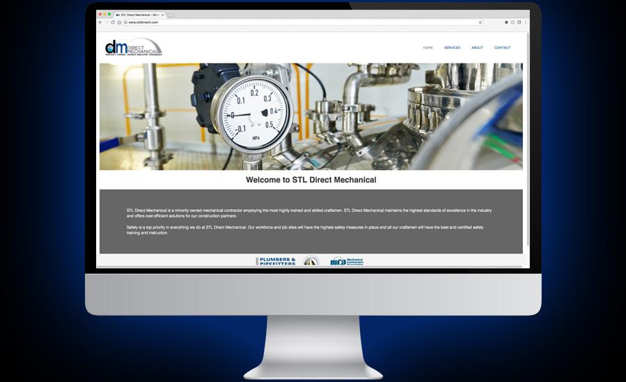 STL Direct Mechanical Website Design and Development