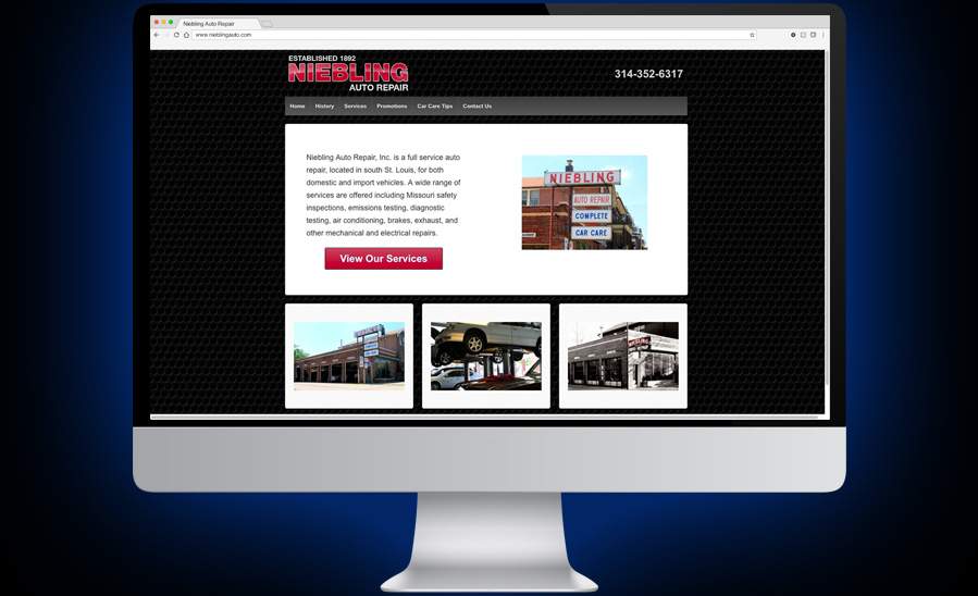 Niebling Auto Repair Website Development and Design