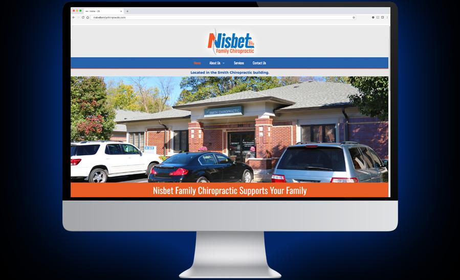Nisbet Family Chiropractic Website Development